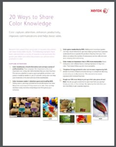 Xerox Fact Sheet on the Use of Color