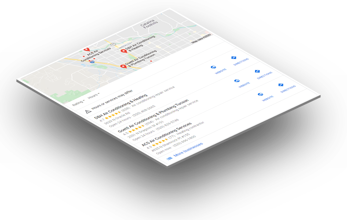 GMB - Local Search results